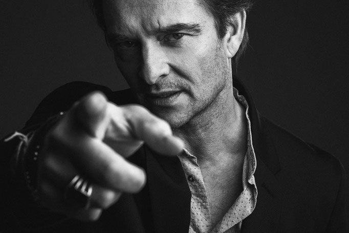 Edito for Blindmagazine by the photographer François Berthier David Hallyday's portrait the singer man stylist by Alison Bottemanne Makeup by me Amelie Moutia photo black and white