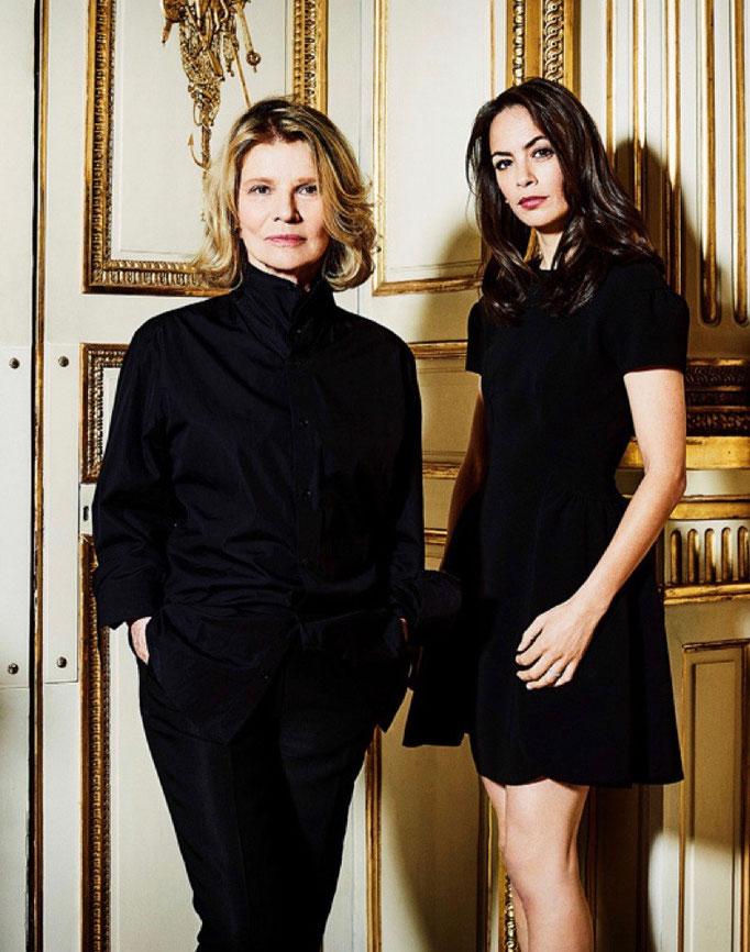 Rencontre Chaumet sur le thème le diaman star du cinéma avec Nicole Garcia et Bérénice Bejo photo pour le Figaro Madame Photographe Jerome Bonnet styliste Sabrina Riccardi