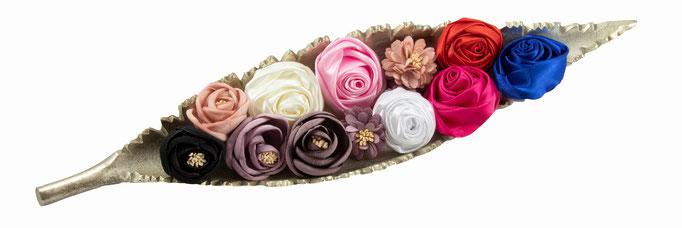Stoffblumen in Schale Dekoration