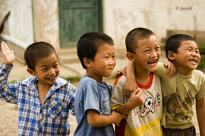 Chinese kids having fun