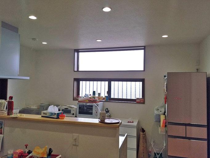 リフォーム施工後 キッチン採光窓