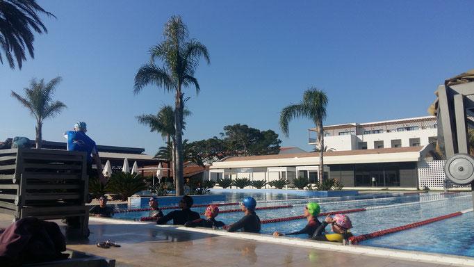 Schwimmtraining bei Gunther Frank  im Gigathlon Camp