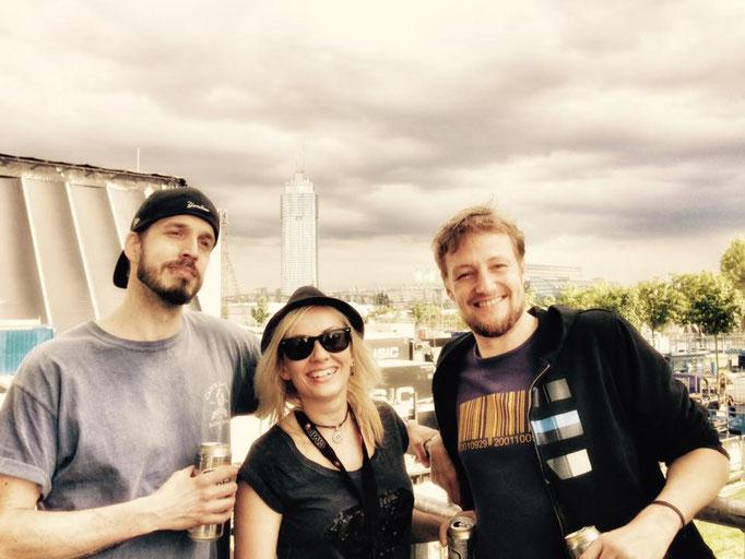 Rock In Vienna 2016 mit Kontrust (Ich mit Agata und Kujo)