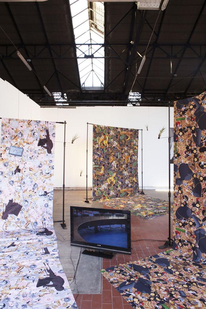 installation view - Knowbotiq (Yvonne Wilhelm, Christian Huebler)