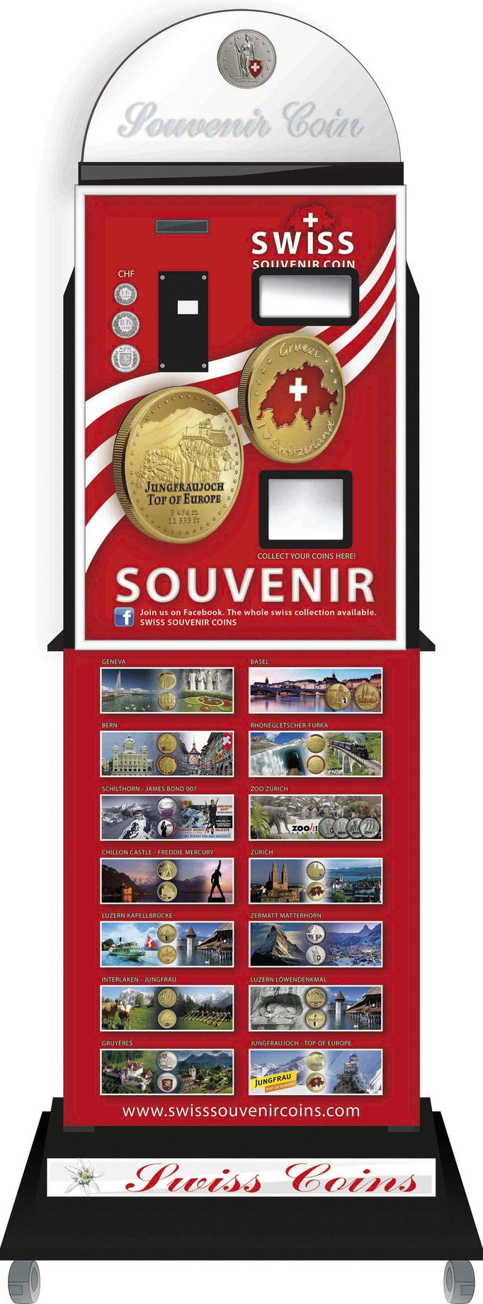 souvenir vending Maschine Jungfrau