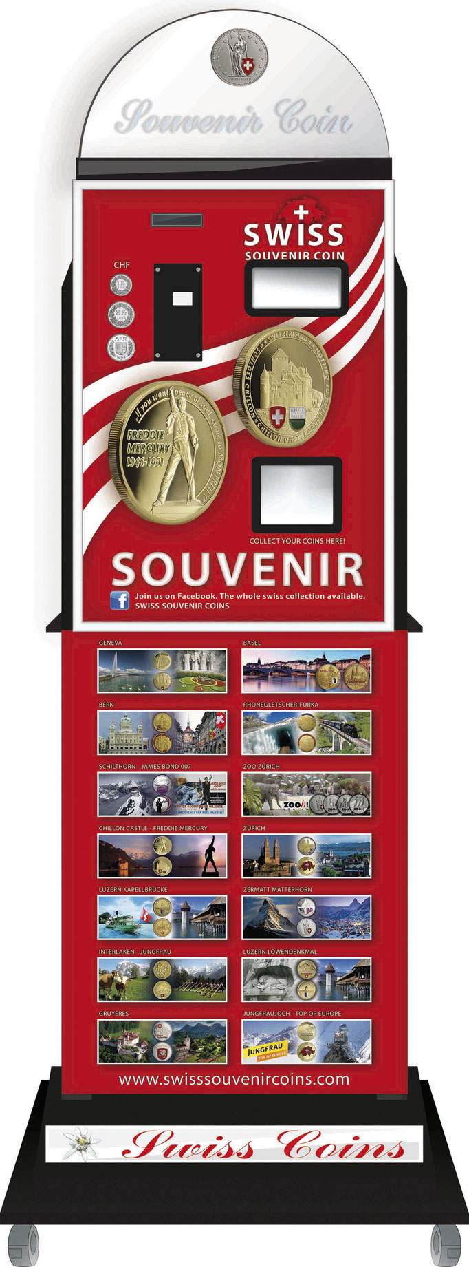 souvenir vending machine Freddie Mercury