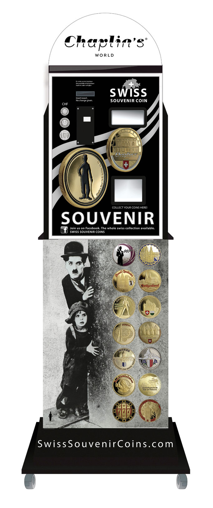 souvenir vending machine Chaplin