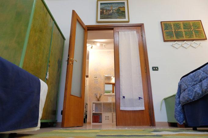 the green room's door