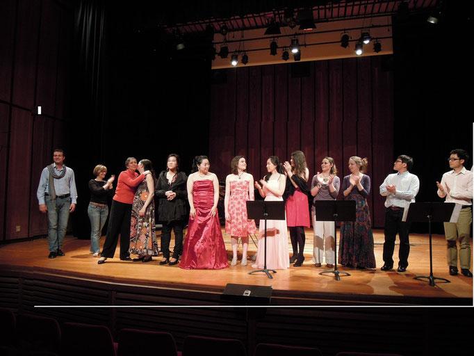 fin de concert de la classe de chant