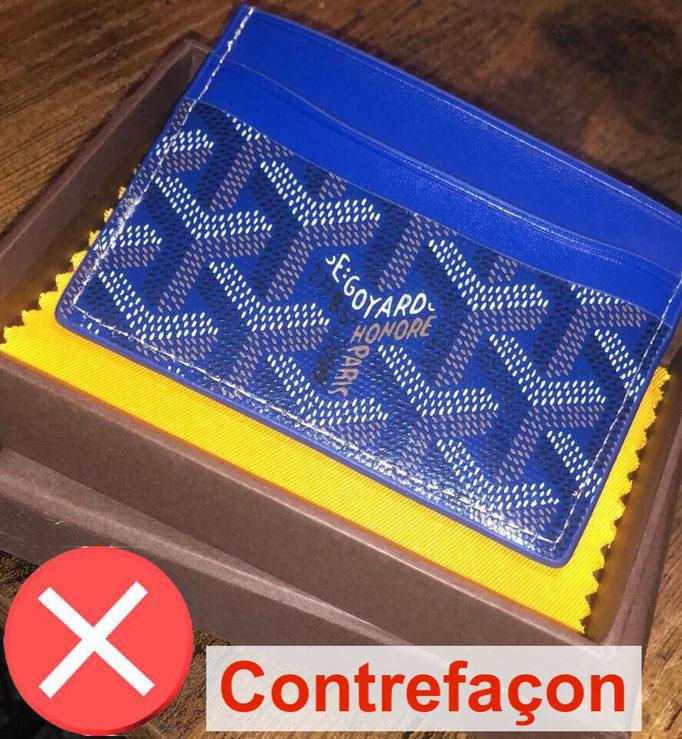 porte carte goyard contrefacon bleu