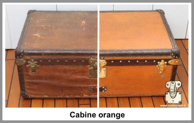 cabine orange malle louis vuitton
