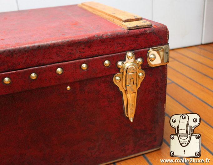 Louis Vuitton red trunk 1906
