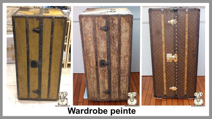 wardrobe peinte malle louis vuitton