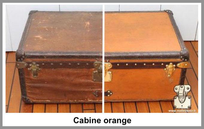 cabine orange malle louis vuitton
