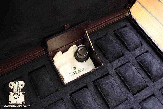 Valise Louis Vuitton cuir pour montres  Rolex