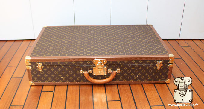 valise de voyage malle Louis Vuitton bisten 80