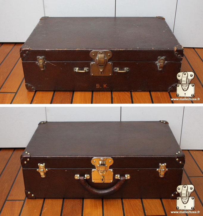 Valise Louis Vuitton bisten ancienne poignée en cuir cassé réparé par Malle2Luxe