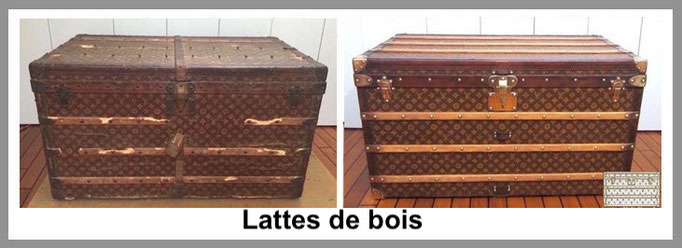 lattes de bois malle louis vuitton
