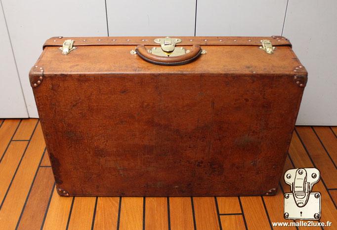 cuir de vachette suitcase