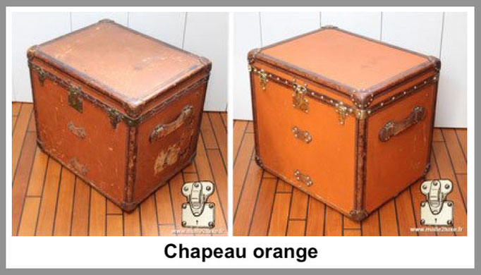 chapeau orange malle louis vuitton