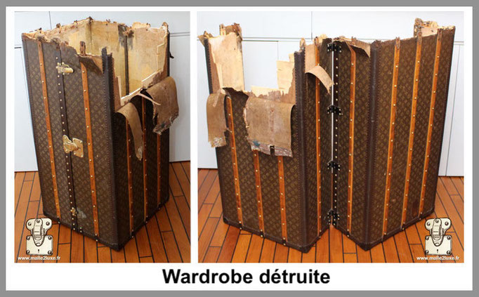 wardrobe détruite Malle Louis Vuitton