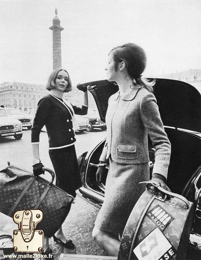 Ancienne photo de bagage vuitton