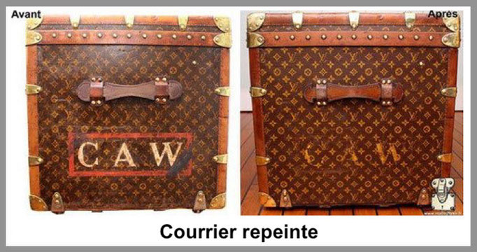 courrier repeinte malle louis vuitton