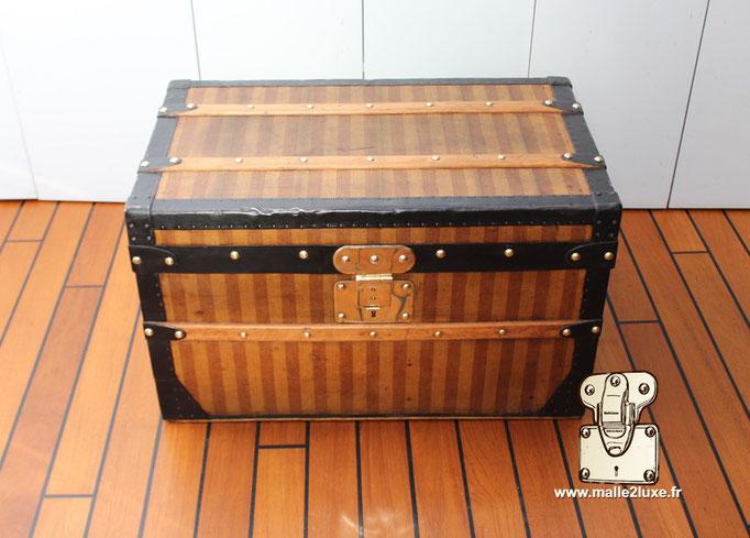 toile rayée malle Louis Vuitton ancienne prix