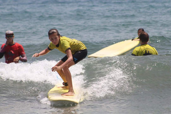 Surfing the waves - well done!