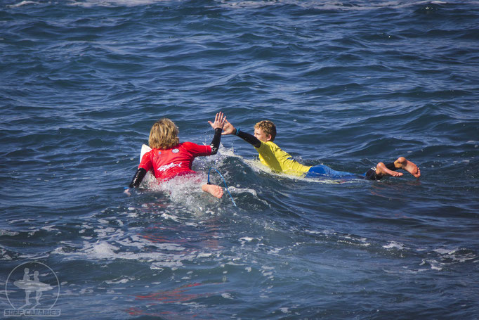 Some surf club groms at the surf contest