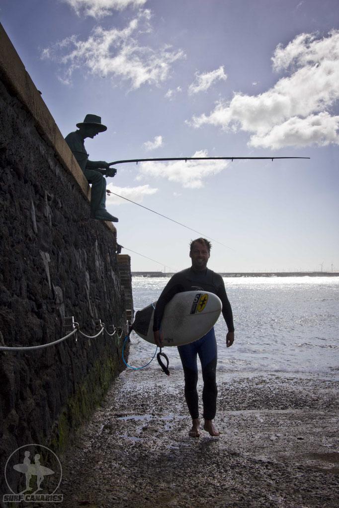 Danny passing the fishermen :)