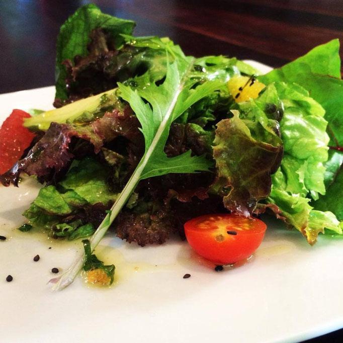 Organic Salad and epazote dressing