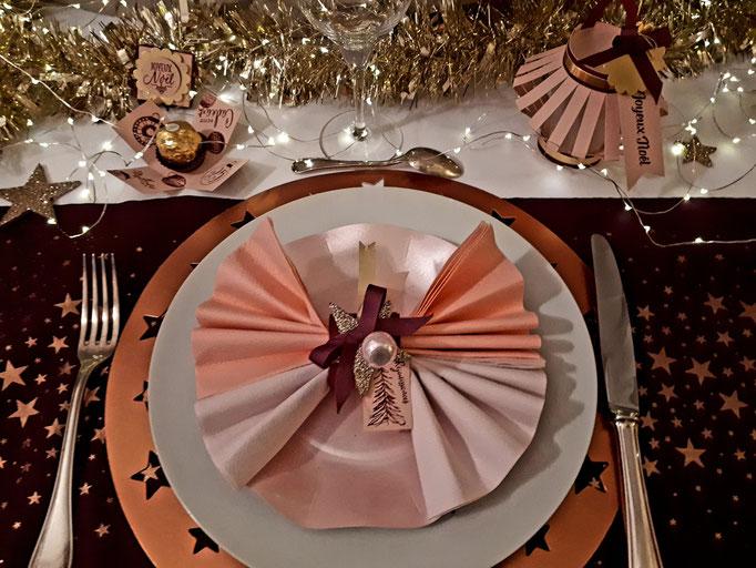 """couvert """"Etoile rosée"""""""
