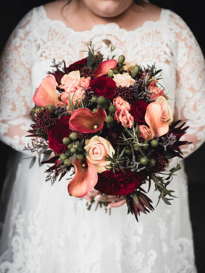 edinburgh florist wedding bouquet