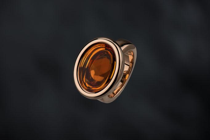 Produktnummer 4548 - 585/- Rosegold,  Citrin