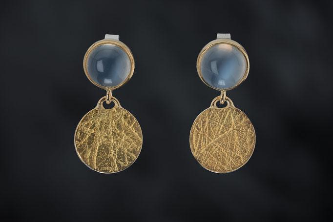 Artikelnummer 7093 - Mondsteine, 900/- , 750/- Gelbgold , 925/- Silber