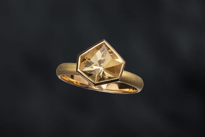 Produktnummer 6840  - Citrin, 750/- Gelbgold