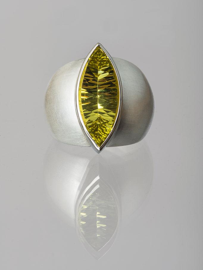 Produktnummer 4169 - 925/- Silber, Palladium, Lemonquarz