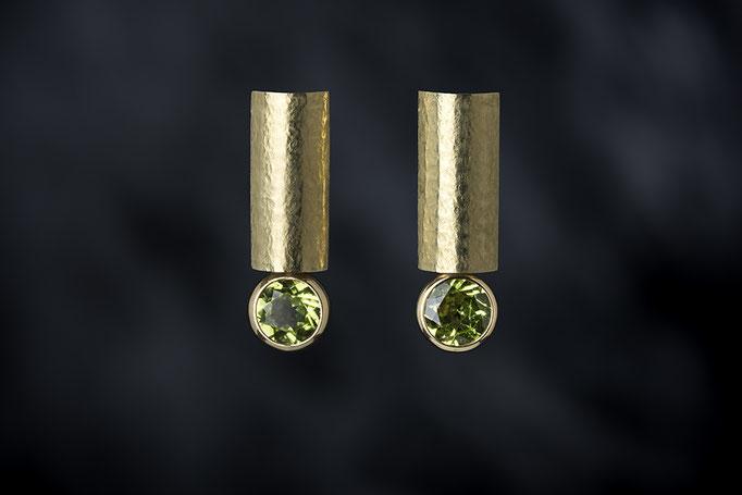 Artikelnummer 7638 - 750/- Gelbgold, Peridot