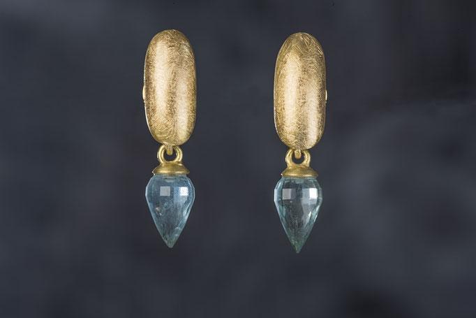 Artikelnummer 1884 - 750/- Gelbgold, Aquamarine