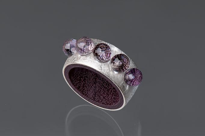 Produktnummer 6684 - 925/- Silber, Amethyste, Purple Heart