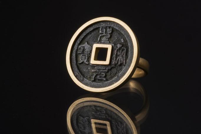 Produktnummer 1269 - 585/- Rosegold, antike Münze