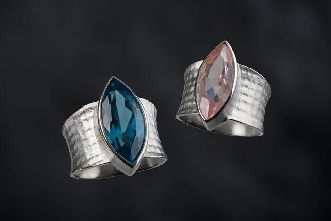 Produktnummer 8673 - 925/- Silber, Rosenquarz, Topas