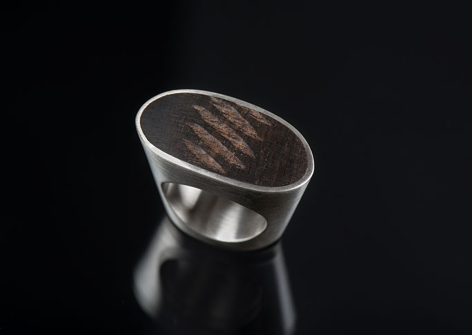Produktnummer 2136 - 925/- Silber, Ebenholz