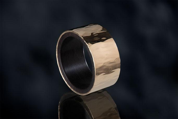Produktnummer 5287 - 900/- Gelbgold, 925/- Silber, Grenadill - Holz