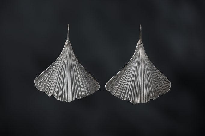 Artikelnummer 7022 - 925/- Silber, Gingkoblätter