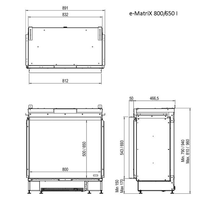 e-Matrix 800/650 I Skizze
