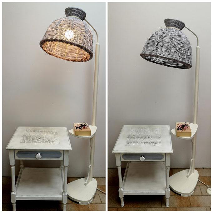 Lampe im Kundenauftrag umgestaltet