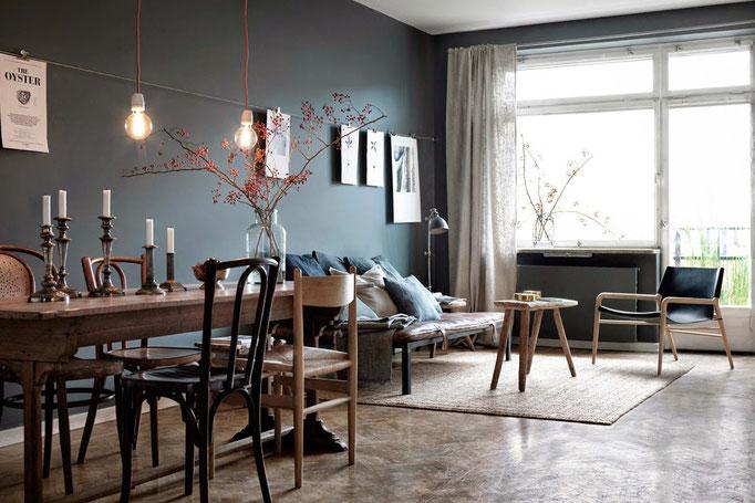 Monochrome Interiors - PASiNGA; image via My scandinavian home