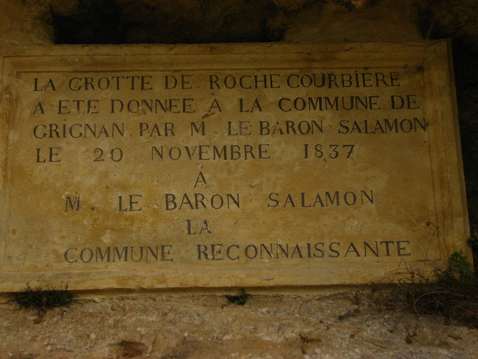 grotte de rochecourbiére (Grignan )